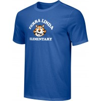 Terra Linda 16: Adult-Size - Nike Combed Cotton Core Crew T-Shirt - Royal Blue